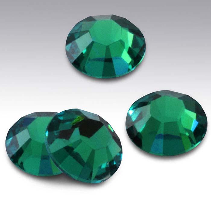 Swarovski® Crystals Round Flat-Back Crystals, Emerald
