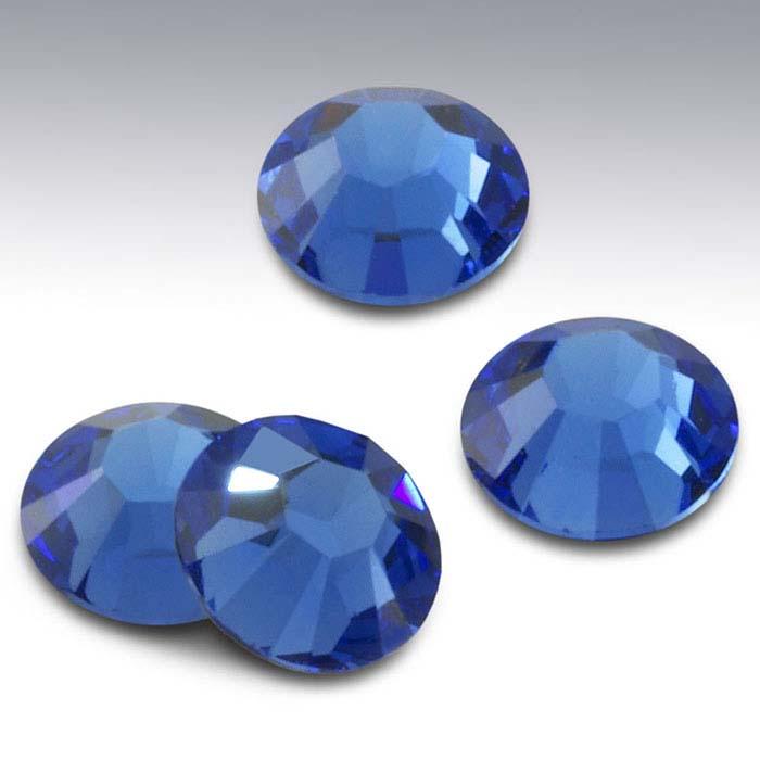 Swarovski® Crystals Round Flat-Back Crystals, Sapphire
