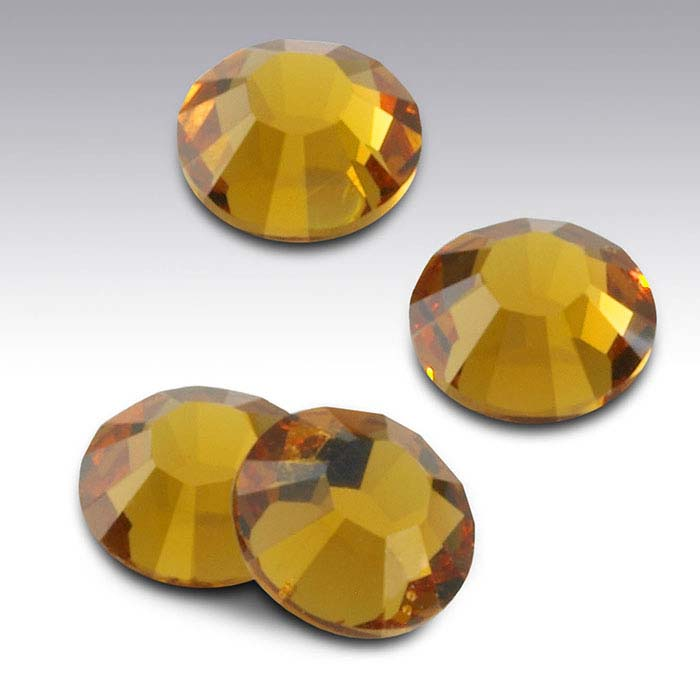 Swarovski® Crystals Round Flat-Back Crystals, Topaz