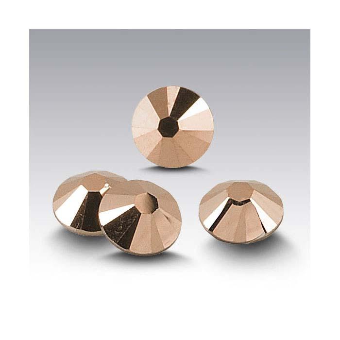 Swarovski® Crystals Round Flat-Back Crystals, Crystal Rose Gold