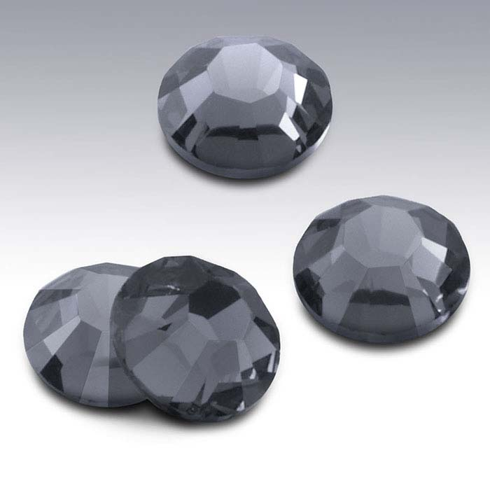 Swarovski® Crystals Round Flat-Back Crystals, Black Diamond