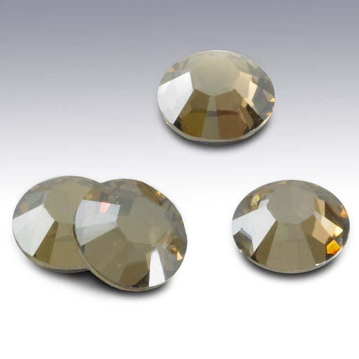 Swarovski® Crystals Round Flat-Back Crystals, Crystal Golden Shadow