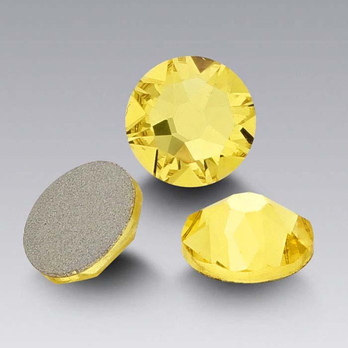 Swarovski® Crystals 3.2mm Round Flat-Back Crystal, Citrine