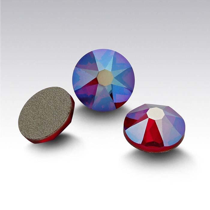 Swarovski® Crystals 3.2mm Round Flat-Back Crystal, Siam Shimmer