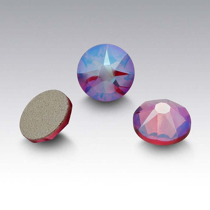 Swarovski® Crystals 3.2mm Round Flat-Back Crystal, Fuchsia Shimmer