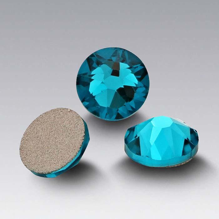 Swarovski® Crystals 2.2mm Round Flat-Back Crystals, Blue Zircon