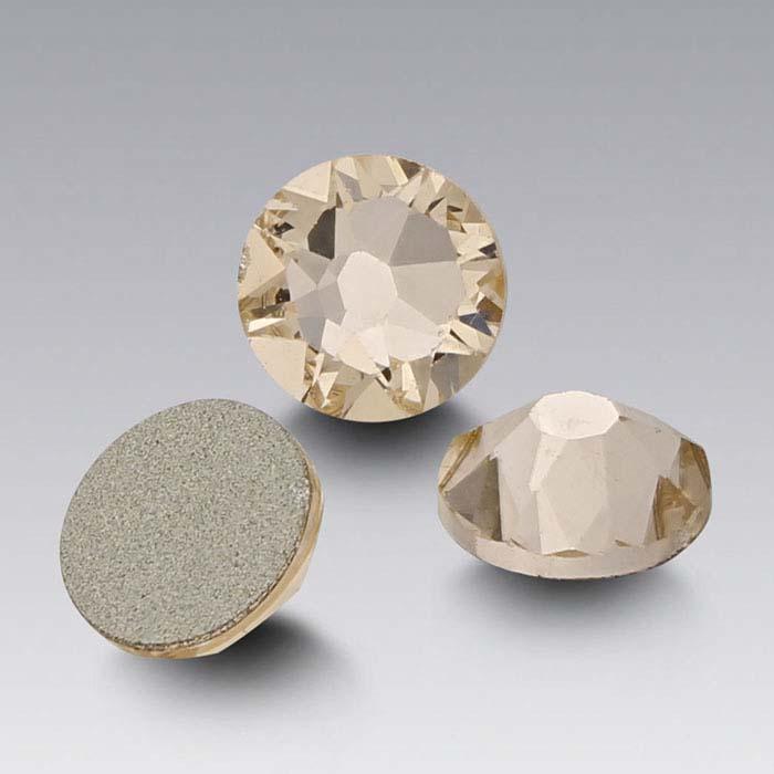 Swarovski® Crystals Round Flat-Back Crystals, Silk
