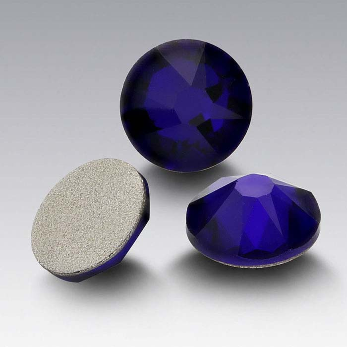 Swarovski® Crystals Round Flat-Back Crystals, Cobalt