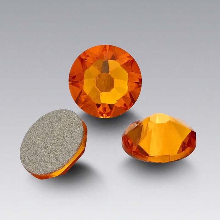 Swarovski® Crystals Round Flat-Back Crystals, Tangerine