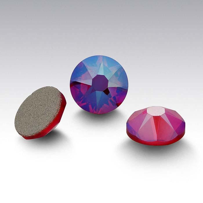 Swarovski® Crystals 4.8mm Round Flat-Back Crystal, Light Siam Shimmer