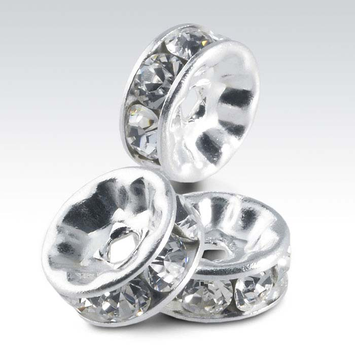 Swarovski® Crystals Roundel Beads, Clear Crystal