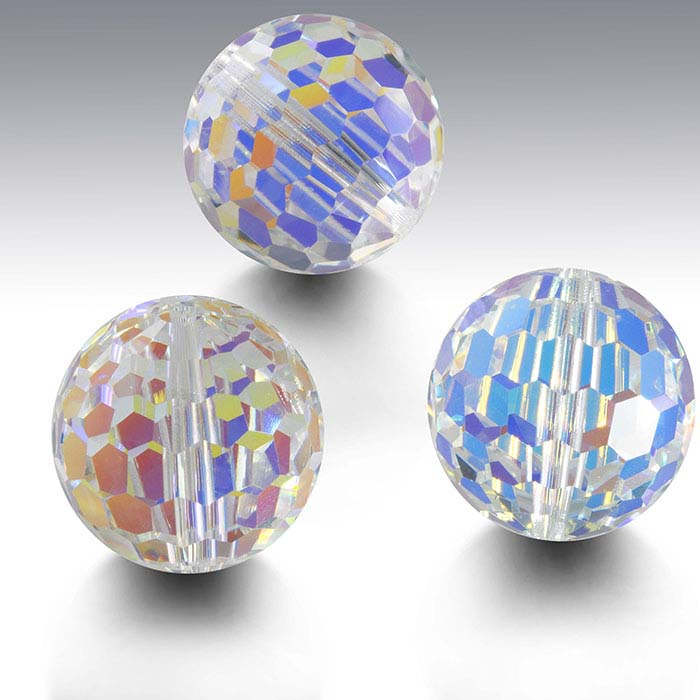 Swarovski® Crystals Round Beads, Crystal AB