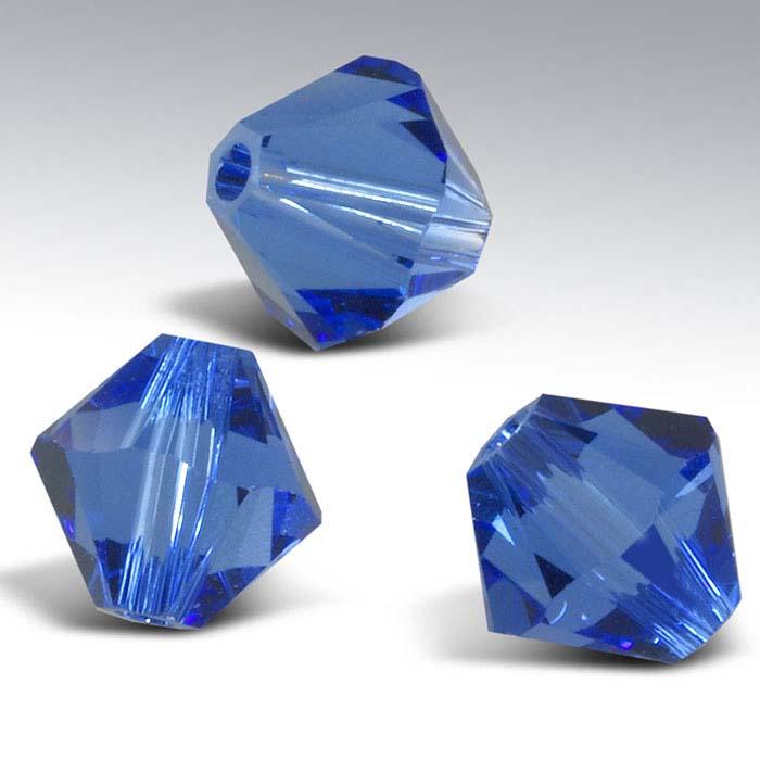 Swarovski® Crystals Tapered Beads, Sapphire