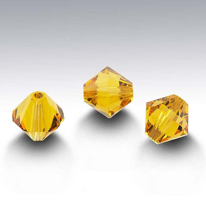 Swarovski® Crystals Tapered Beads, Sunflower