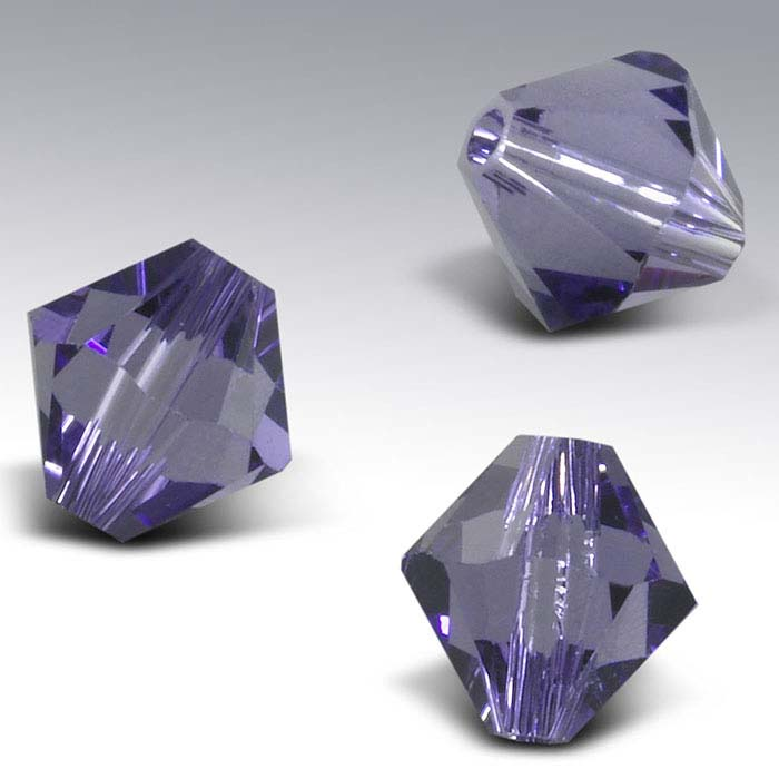 Swarovski® Crystals Tapered Beads, Tanzanite