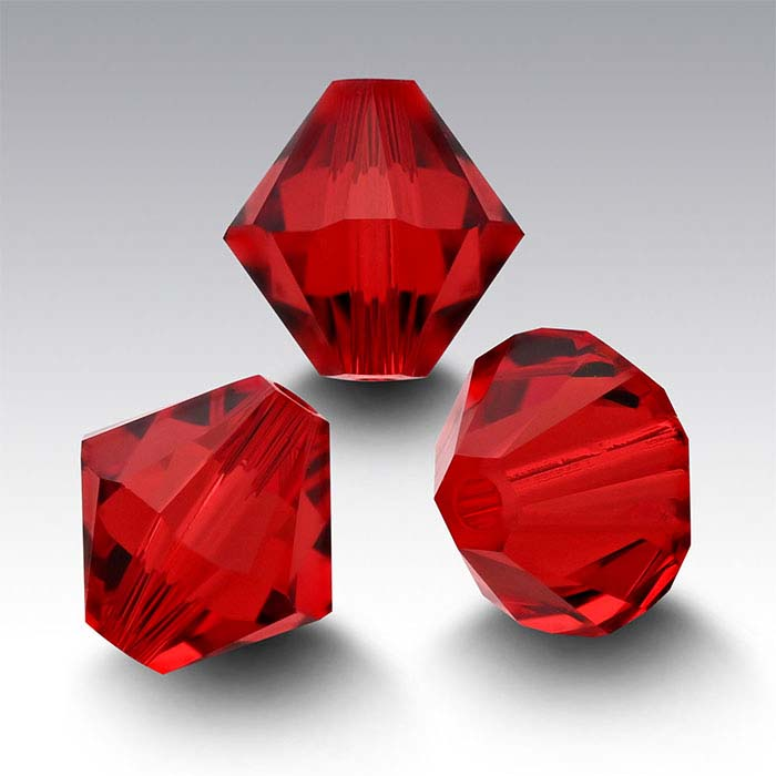 Swarovski® Crystals Tapered Beads, Scarlet