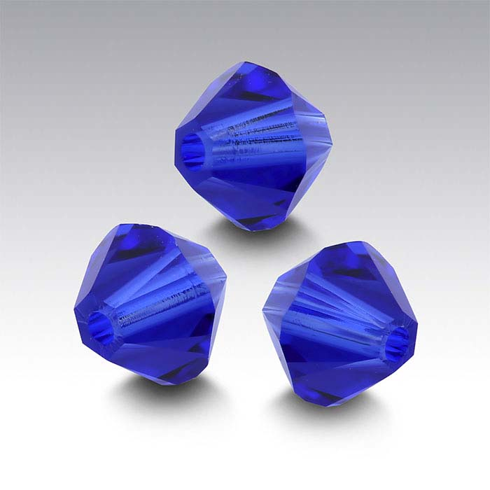 Swarovski® Crystals Tapered Beads, Majestic Blue