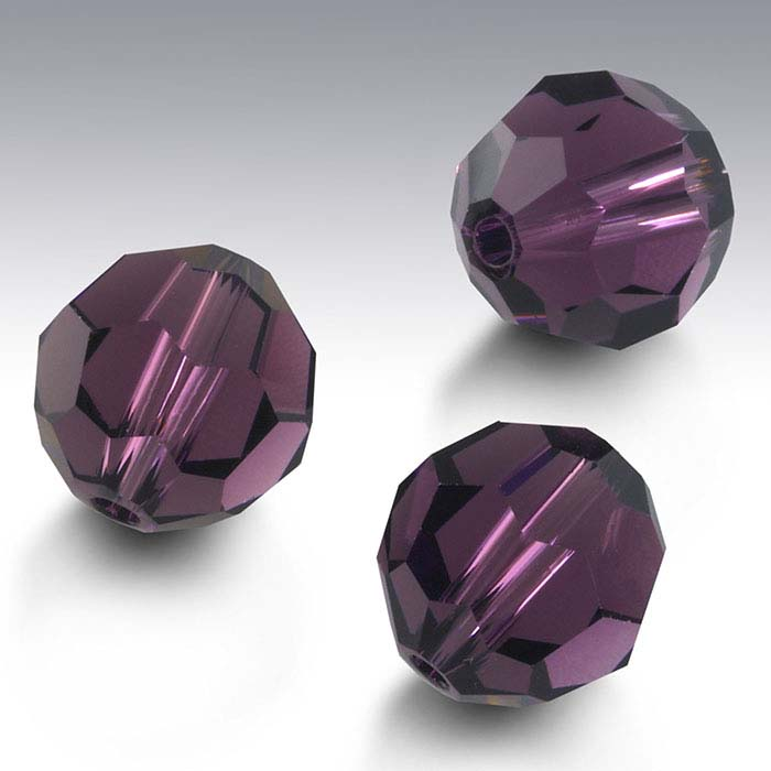Swarovski® Crystals Round Beads, Amethyst
