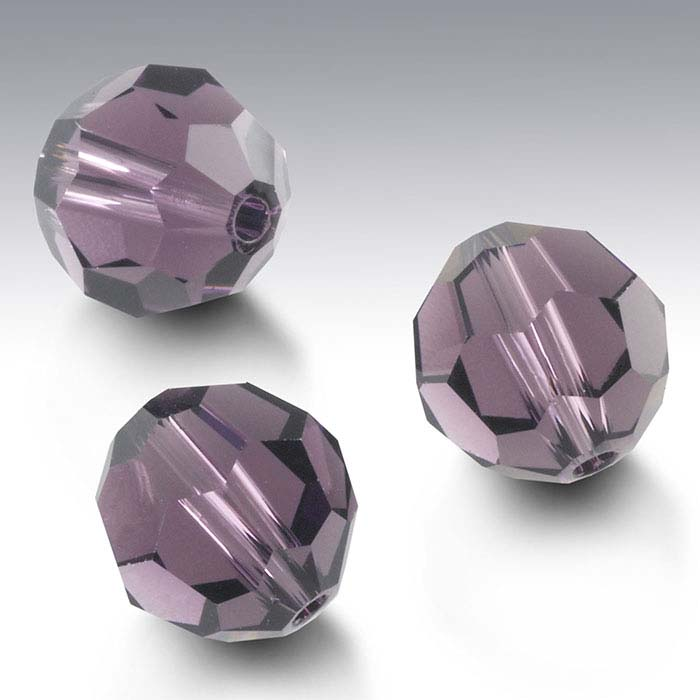 Swarovski® Crystals Round Beads, Light Amethyst
