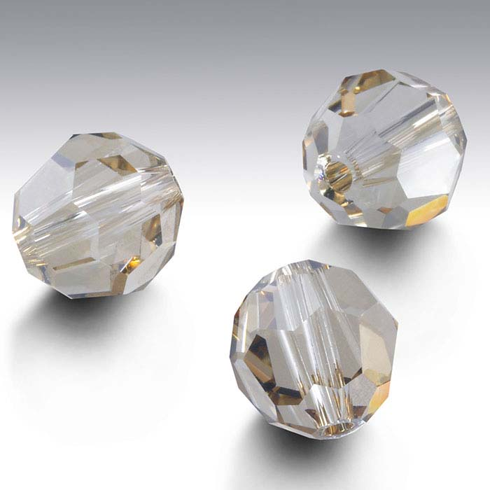 Swarovski® Crystals Round Beads, Crystal Golden Shadow