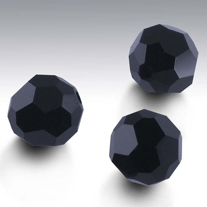 Swarovski® Crystals Round Beads, Jet