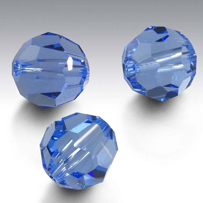 Swarovski® Crystals Round Beads, Light Sapphire