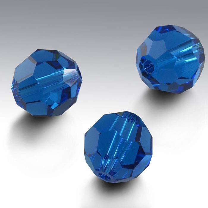 Swarovski® Crystals Round Beads, Capri Blue