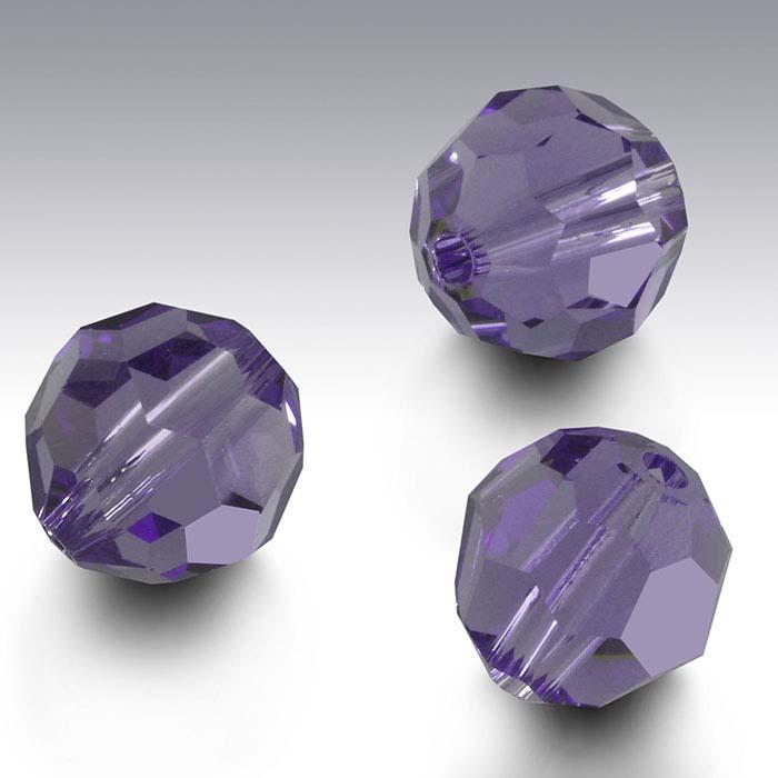 Swarovski® Crystals Round Beads, Tanzanite