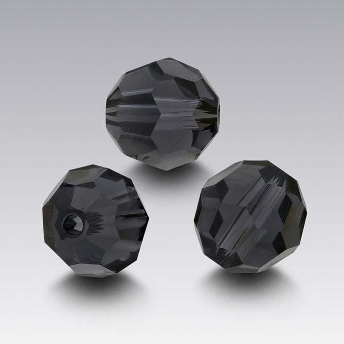 Swarovski® Crystals Round Beads, Graphite