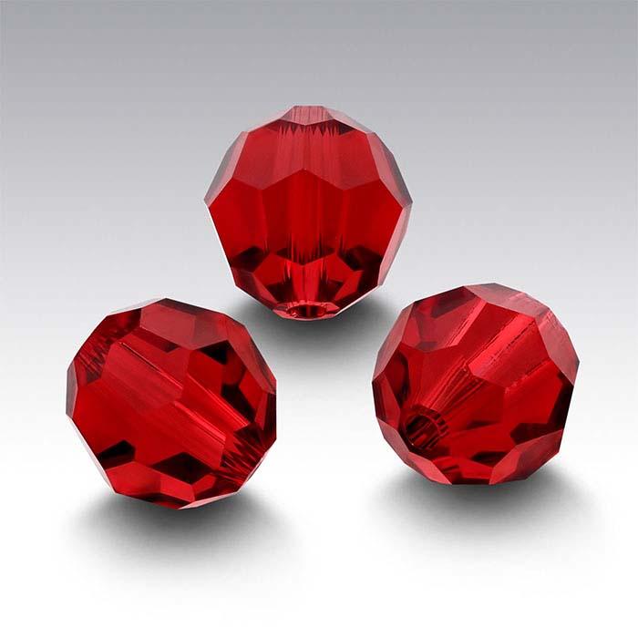 Swarovski® Crystals Round Beads, Scarlet