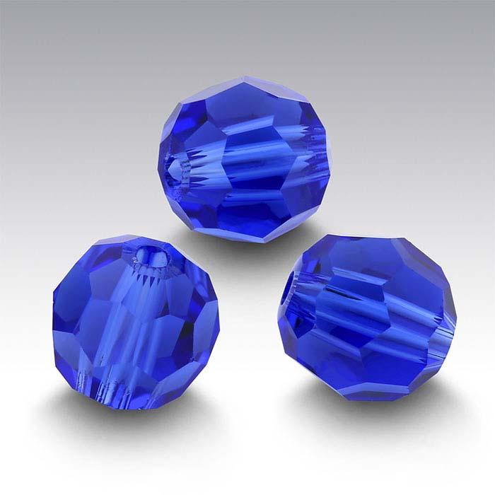 Swarovski® Crystals Round Beads, Majestic Blue