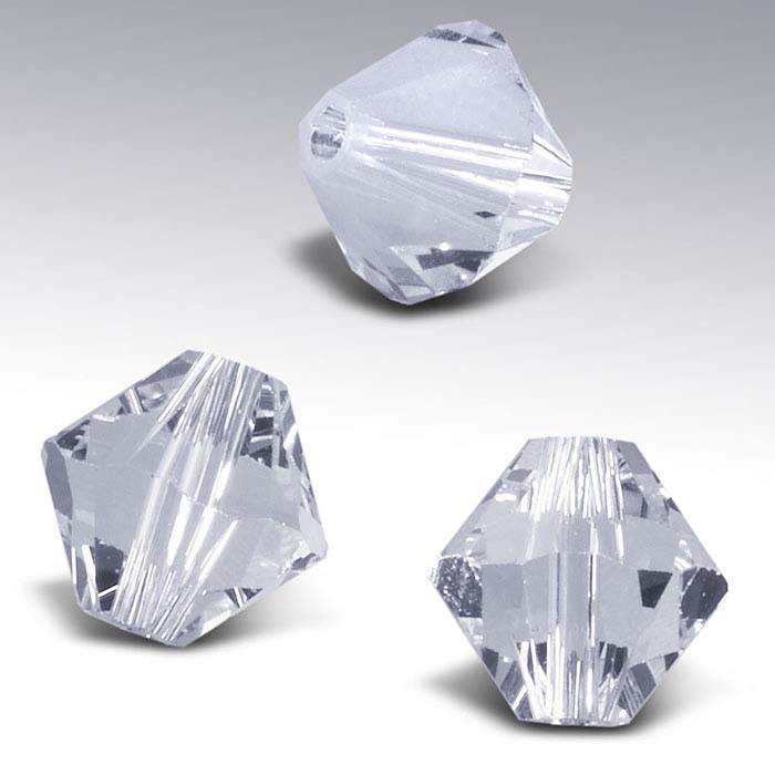 Swarovski® Crystals 4mm Tapered Bead, Clear Crystal