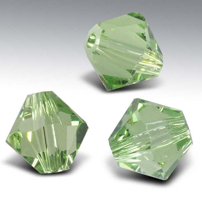 Swarovski® Crystals Tapered Beads, Peridot