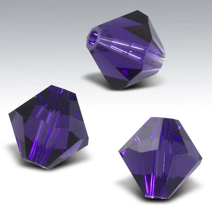 Swarovski® Crystals Tapered Beads, Purple Velvet