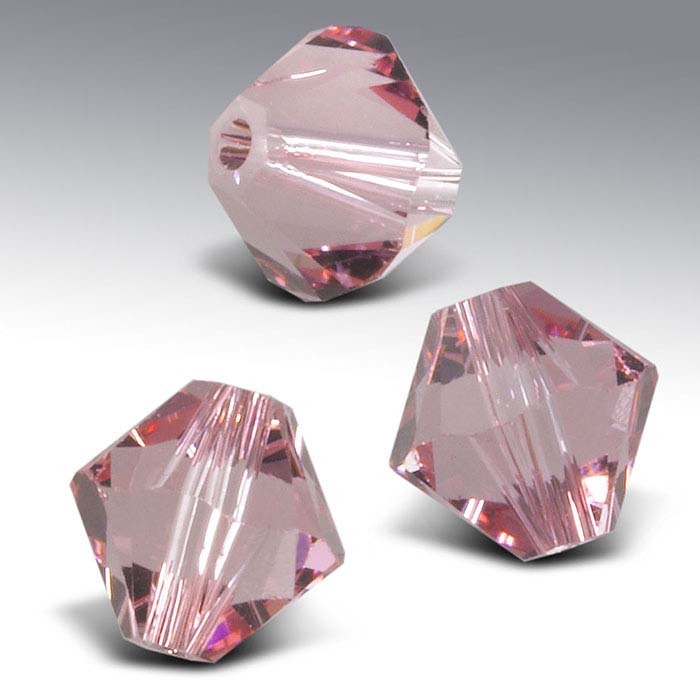 Swarovski® Crystals Tapered Beads, Light Rose