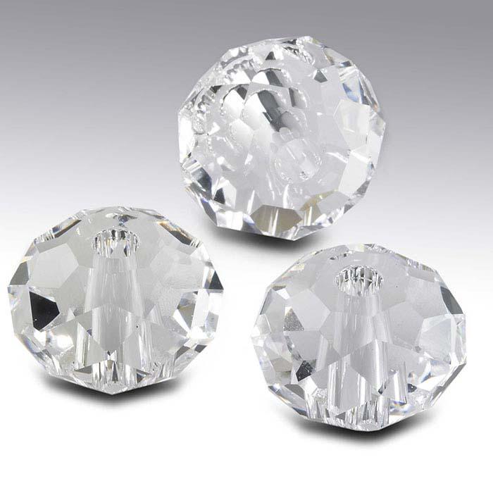 Swarovski® Crystals Saucer Briolette Beads, Clear Crystal