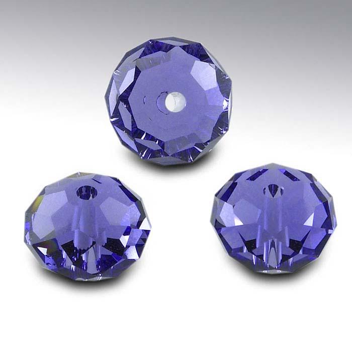 Swarovski® Crystals Saucer Briolette Beads, Tanzanite
