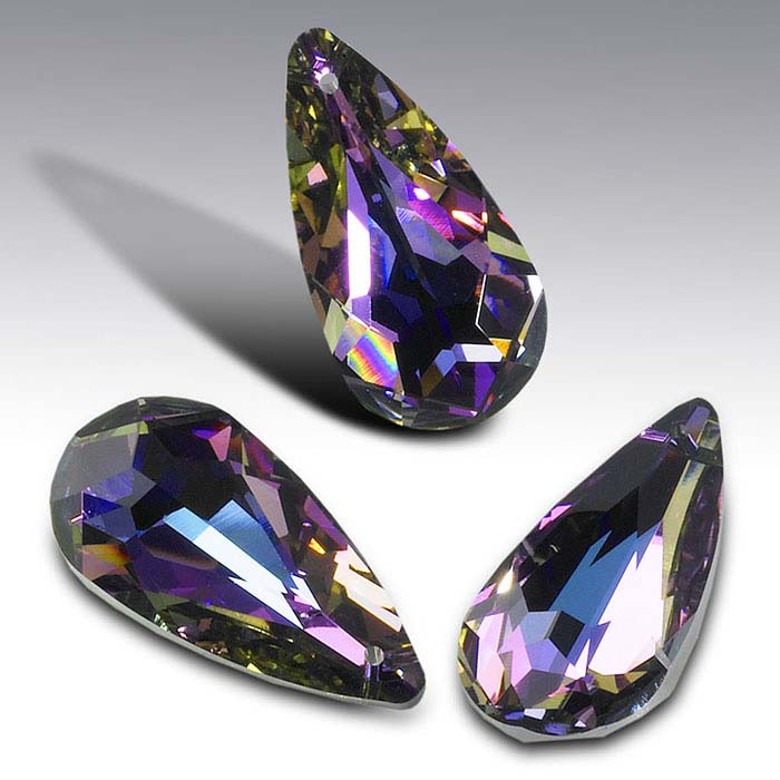 Swarovski® Crystals 24 x 12mm Teardrop Briolette Pendant, Crystal Vitrail Light