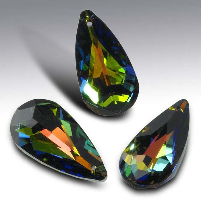 Swarovski® Crystals 24 x 12mm Teardrop Briolette Pendant, Crystal Vitrail Medium