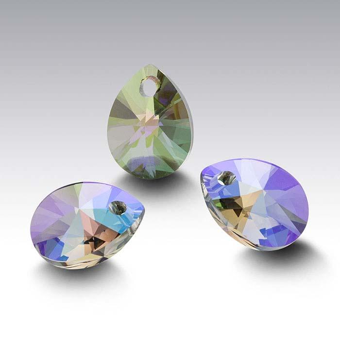 Swarovski® Crystals Pear Pendants, Crystal Paradise Shine