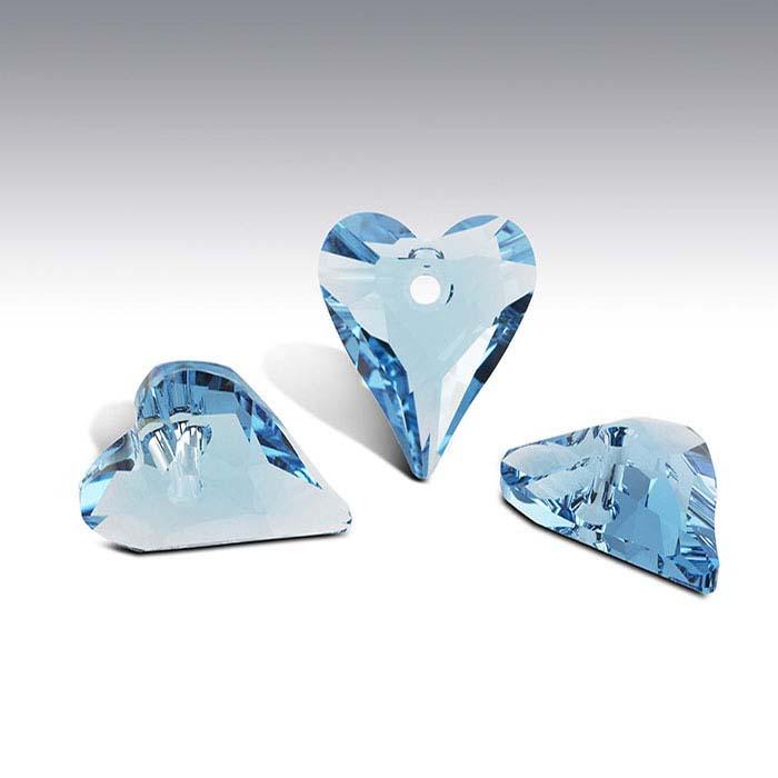 Swarovski® Crystals 12mm Wild Heart Pendant, Aquamarine