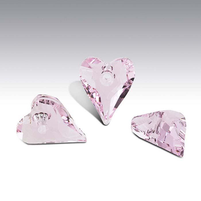 Swarovski® Crystals  Wild Heart Pendants, Rosaline