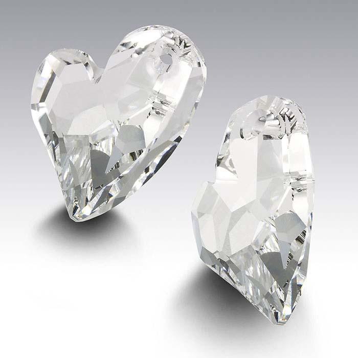 Swarovski® Crystals 17mm Devoted 2 U Heart Pendant, Crystal