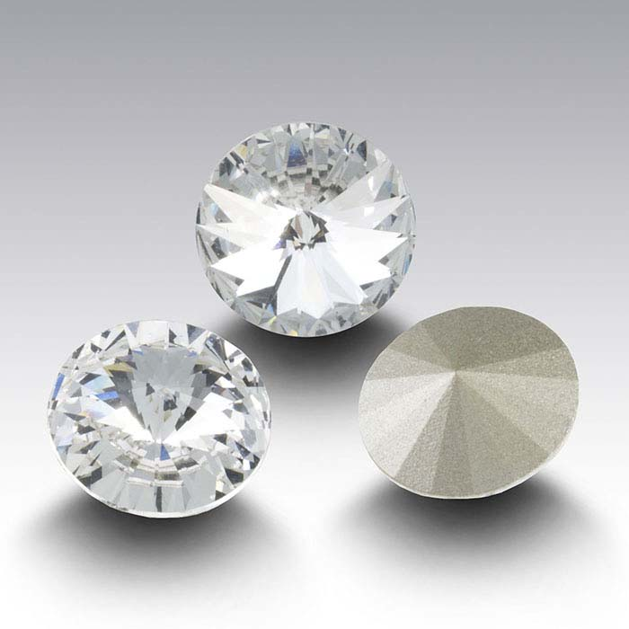 Swarovski® Crystals 12mm Round Rivoli Crystal, Clear Crystal