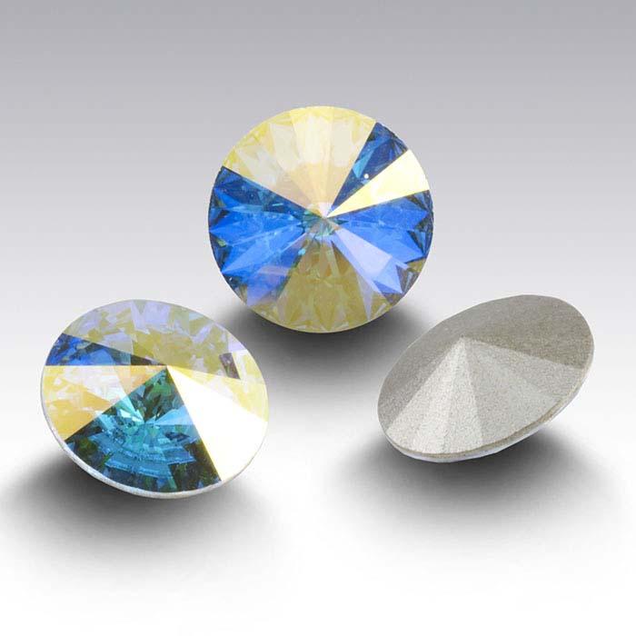 Swarovski® Crystals 12mm Round Rivoli Crystal, Crystal AB