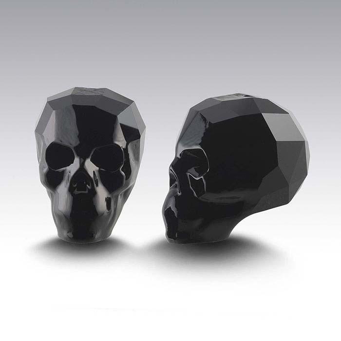 1c0fcb219d617 Swarovski® Crystals 13mm Faceted Skull Bead, Jet