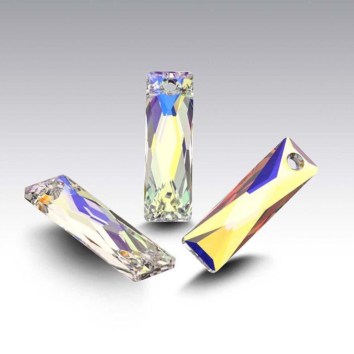 Swarovski® Crystals Queen Baguette Pendants, Crystal AB