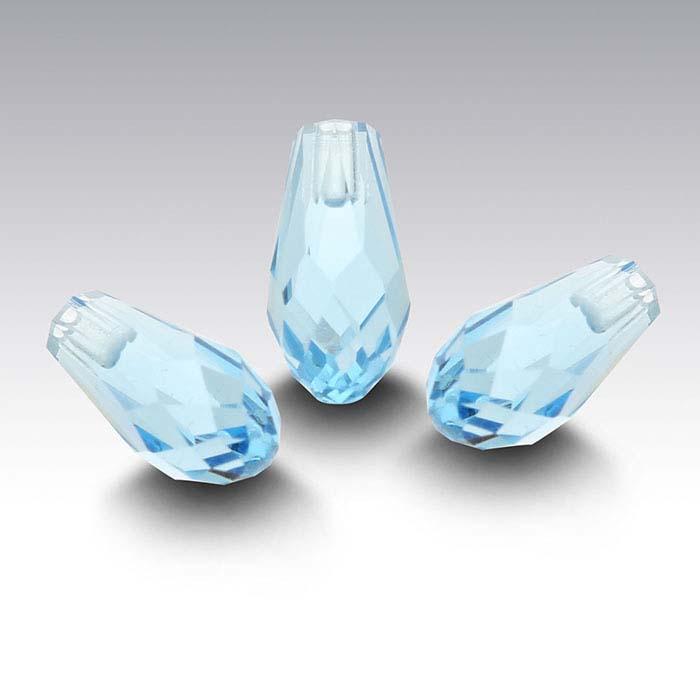 Swarovski® Crystals 12 x 6mm Teardrop Pendant, Aquamarine