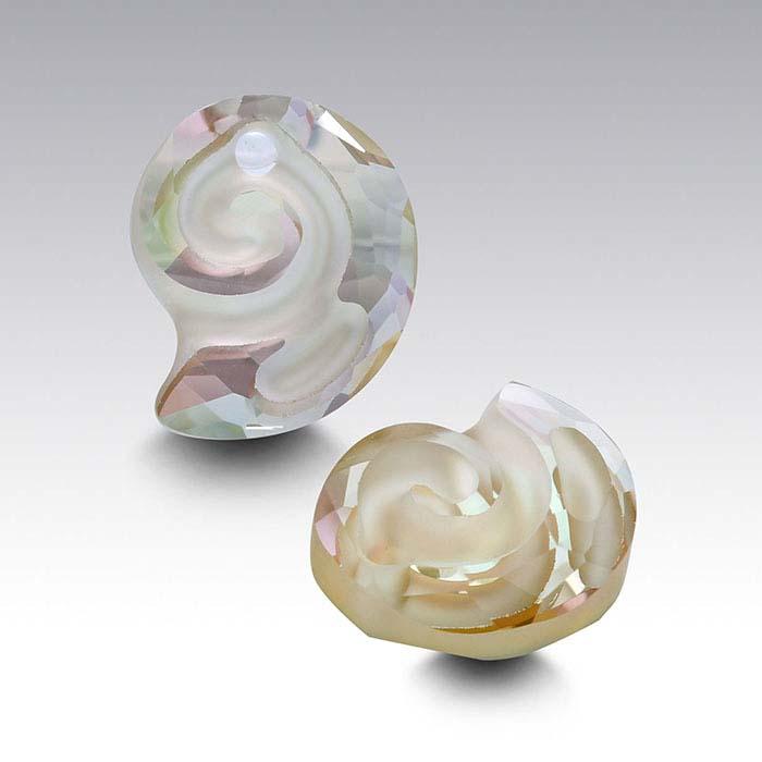 Swarovski® Crystals Sea Snail Pendant, Crystal Luminous Green
