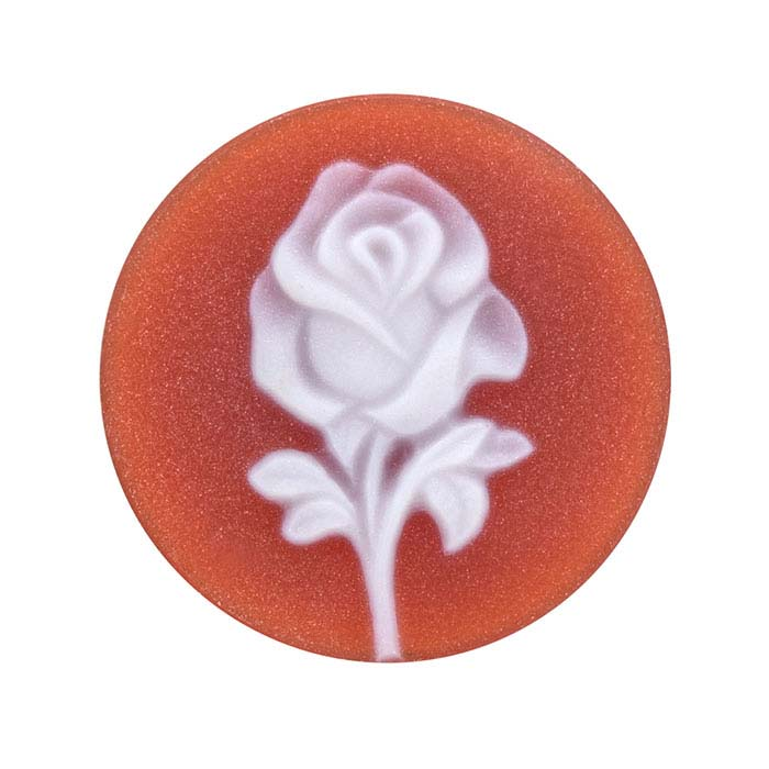 Red Agate 16mm Round Rose Cameo